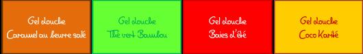 Gels douche multicolors4
